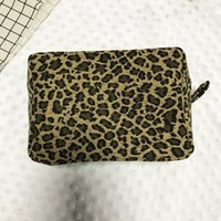 Blanks professionali Custodia cosmetica Cheetah Makeup Bag Materiale Canvas Borsa cosmetica portatile da viaggio Make up Bag