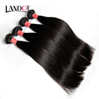 Wholesale Brazillian Natural Hair - Brazilian Straight Virgin Human Hair Weaves Bundles 8A Grade Unprocessed Peruvian Indian Malaysian Cambodian Brazillian Remy Hair Extensions