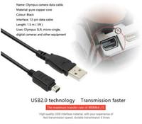Wholesale Cable Usb Cb Usb6 - 12 Pin USB Data Cable Cord For Olympus Digital Camera CB-USB5 CB-USB6 USB6 SZ-10 SZ-20 E-P1 C-70z E520 E330 U850 EP1