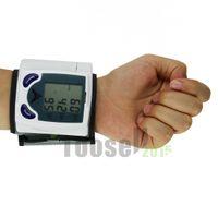 Wholesale Display Digital Ac - Fully Automatic Digital Wrist Blood Pressure Monitor & Heart Beat Meter With LCD Display hongkong post free shipping