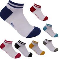 Wholesale Tennis Candy - High quality Sport Socks Skateboard hiphop socks Cotton Unisex Socks Women Socks Badminton socks Ship Cycling Socks 7 Candy Colors