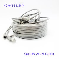 Wholesale Array Networks - High Quality RJ45 Cat5e Video Network Cable & 12V DC Power Cable 5mm Combo Combine Dedicated Line Wire 40m for Array IP Camera
