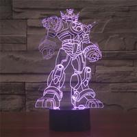 mehrfarben wechselnde lichter großhandel-Freies Verschiffen 7 Multi Farbwechsel Transformatoren Acryl 3D LED Nachtlicht USB LED Dekorative Tischlampe Schreibtischbeleuchtung