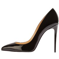 Wholesale Stiletto High Heel Dress Shoes - 2016 women sexy high heels pointed toe pumps office shoes party shoe fashion stiletto high heel pump pu patent leather12cm