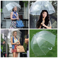 Wholesale Household Wholesale - Big Clear Cute Bubble Deep Dome Umbrella Gossip Girl Wind Resistance Umbrellas Household Sundries Umbrellas SF20