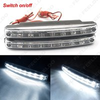 Wholesale Drl Off - FEELDO White Automatic Switch ON OFF Fog Light Euro Car DRL Daytime Runing Light #2467