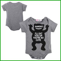 Wholesale Girl Leopard Print Set - 2016 Unisex Children clothing set Baby girl baby cotton short sleeve toddler jumpsuit infant bodysuit letters cartoon animal print outfits