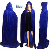 Wholesale Prince Adult Costume - Multiple sizes(S-XL) Halloween costumes Hooded Cloak Adult Halloween Costumes Capes Velvet Fabric Dress Up Witch, Witch, Prince, Princess.