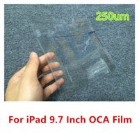 Wholesale Brand Tape - Brand New 9.7inch 250um OCA Film Tape Adhesive Sticker Stick Screen Repair Parts For iPad Air 2 free shipping