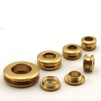 Wholesale Diy Belt Buckles - free shipping 10 pieces brass gas hole screw Threaded connection eyelet DIY bag belt part hardware handmade buckle hole