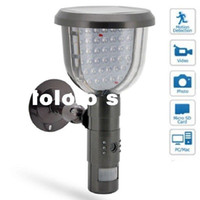 Wholesale Solar Camera Record - Solar Panel Wall LED Lamp DVR Security Camera PIR Motion Detection Video Record