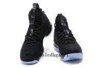Wholesale Ice Plastics - LeBron 15 Black Ice LeBRon 15 James Men Basketball Shoes Lebron shoe Arrival LBJ Sneakers 15s High Cut Mens Casual Shoes