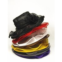 Wholesale Organza Brim Hats For Women - Sun summer hats for women 8 colors top quality 2016 newl womens Organza Hat Kentucky Derby Wedding Church Party Floral Hat wide brim