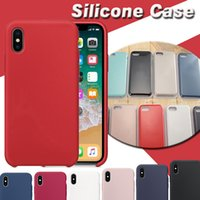 Para iPhone X Silicone Case Slim Ultra fino Soft Rubber Solid Shockproof capa protetora para iPhone X 8 7 Plus 6 6S com pacote de varejo