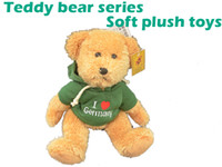 Wholesale Ted Christmas Bear - Ted Bear Soft plush toys stuffed animals toy teddy bear with vivid sweater embroidered design on the dress best gift for children 71-1006