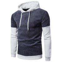 Wholesale Coats Border - New Mens European Men's Clothing cross-border hit color corduroy men's sweater coat hat even European tide