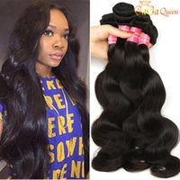 Wholesale Cheap Peruvian Body Wave Weave - 8A Peruvian Virgin Hair Body Wave Cheap Peruvian Human Hair Weaves 3 or 4 Bundles Brazilian Peruvian Malaysian Indian Body Wave Hair