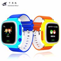 Wholesale Watch Gps Tracker Alarm - Wholesale- Q90 Kid Safe Anti Lost Alarm Monitor GPS Q90 Touch Screen WIFI Positioning Kids Watch SOS Call Location Finder Device Tracker
