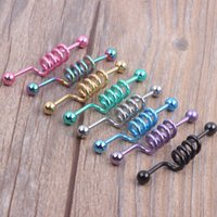 Ear Body Jewelry ANODIZED STEEL LARGO INDUSTRIAL SCAFFOD BARBELL BAR EAR STUD EARRING PIERCING