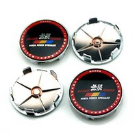 Wholesale Wholesale Chrome Accessories - 4pcs 68mm Car Styling Accessories Emblem Badge Sticker Wheel Hub Caps Centre Cover MUGEN POWER for HONDA CIVIC Free Shipping