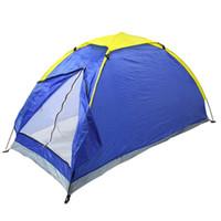 ingrosso disegni di giardino blu-All'ingrosso- Tenda da campeggio all'aperto Singolo Persone tenda da campeggio Tenda da spiaggia design blu pop-up aperto 1-2 persone per il campeggio di pesca in giardino