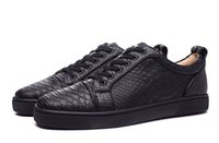 Designer Low Cut Blanc / Noir Chaussures Python Bottom Red Sneakers Fashion Cheap SnakeSkin Party Pour Hommes Femmes