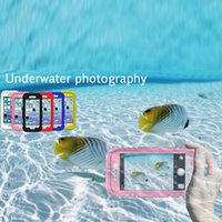 Wholesale Iphone Shockproof Dirtproof Waterproof Case - DustProof SnowProof ShockProof Dirtproof Heavy Duty Carrying Waterproof Case Cover for iphone 6 6 plus with Transparent Screen Protector