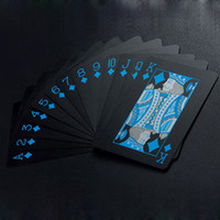 Wholesale Poker Props - Durable Waterproof PVC Poker Cards Plastic Playing Cards Set Texas Poker Card Classic Pokers Hot Family Gather Game Props