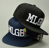 Fashion Hip Hop MLGB Lettre Broderie Cartoons Flat Brimmed Chapeaux Ajustable Snapbacks Nice Baseball Caps Pour Adultes Hommes Womens Party