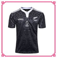 Wholesale Newest New Zealand Maori All Blacks year Anniversary Commemorative Edition Jersey All Blacks RWC Rugby Jerseys home Rugby shirt
