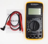 Wholesale Large Screen Multimeter - Wholesale-LCD digital Multimeter voltmeter ammeter DC AC Voltage Current Resistance temperatureTester With test pen Large-screen display