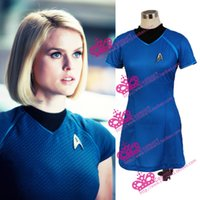 Wholesale star trek uniforms - Wholesale-Star Trek Sexy Uhura Uniform Dress Halloween Party Cosplay Costume