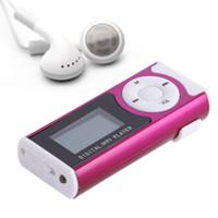 rosa mp3 musik großhandel-USB Mini Clip MP3 Player LCD Bildschirm Unterstützung 16 GB Micro SD TF Karte Slick Stylish Design Sport Compact 1.3