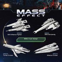 Wholesale Toy Gun 3d Model - MASS Effect DIY 3D metal puzzle SX3 Alliance Fighter SR2 Normandy Turian Cruiser Alliance Cruiser