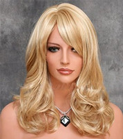 Wholesale long blonde human hair wig bangs resale online - Hot Brazilian Blonde Virgin Hair Full Lace Wig With Bangs Long Blonde Human Hair Wig Glueless Lace Wig With Baby Hair Good Quality