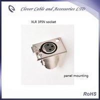 xlr mount großhandel-Freier Verschiffen-heißer Verkauf und RoHS gefällige 10PCS 3pin XLR Plattenmontage-Kanone Audio XLR Verbindungsstück