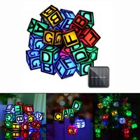 Wholesale Solar Home Lighting - Solar Christmas LED String Lights 30 LEDs English Alphabet Waterproof Outdoor Lights for Garden Home Wedding Party