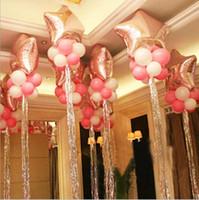 Wholesale Curtains Marriage - Wholesale Marriage Birthday Birthday Party Decorative Curtain Laser Balloon Raindrop Breath Balloon Fringe Rain Curtain