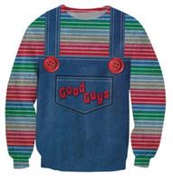 juguetes para chicos al por mayor-Venta al por mayor-The evil Good Guys sudaderas con capucha de juguete hombres / mujeres halloween Chucky imprimir 3d sudadera casual jerseys más el tamaño S-XXL Envío gratis