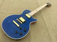 Wholesale Guitar Birds Fingerboard - A New Brand electric guitar PL see thur blue with maple fingerboard bird eye flame!