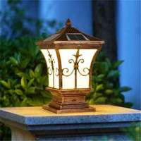 Wholesale Post Lead - Solar power led post lights super bright outdoor waterproof garden lights LED solar lights home post lamps outdoor villa deck yard