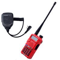 Wholesale Baofeng Radio Mic - BaoFeng Walkie Talkie UV-5R Transceiver baofeng uv-5r VHF UHF Dual Band 136-174 400-520 MHz Two Way Radio and 1X Speaker Mic