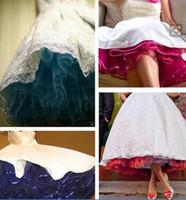 cuadros populares vestido al por mayor-2016-2017 Pinterest Enagua retro popular del vestido de boda Enhorabuena real del arco iris del cuadro más las enaguas del tamaño para los vestidos de boda Enaguas