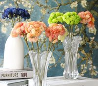 Wholesale Pink Hydrangea Wedding Bouquet - New 10pcs moq Artificial Mini Fresh Hydrangea Bud Wedding Home Decorative Flowers Bouquet Dining-table Decoration free shipping