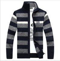 Wholesale Extra Long Coats Women - Warm Winter Sweaters Mens Pullover Thick Casual Men's Knitwear Classic Pullovers Men Middle-aged Blending Stand Collar Cloth men women coats
