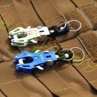 llave del equipo al por mayor-Aleación al aire libre Tiger Hebilla Fast Hang Mosquetón Hook Kits de viaje Equipo de Camping Alpinismo Gancho llavero llavero