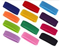 Cheap Wholesale Headbands Basketball Badminton Sweat Headband Sport Elastic Cotton Free Towel Headband Frete Grátis