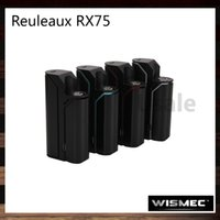 Wholesale vw switches for sale - Group buy Wismec Reuleaux RX75 TC Mod W VW Bypass TC Ni TC Ti TC SS TCR Mode Safety Lock Switch Original