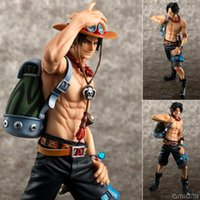 Wholesale One Piece Dx - Anime Japanese Catoon One Piece Pop Dx Fire Ace The 10 th Anniversary Special Edition Pvc Action Figure Collectible Model Toy