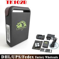 Wholesale Wholesale Turkeys Prices - DHL Fedex UPS 10pcs lot Factory Price Mini GSM GPRS GPS Tracker TK102B Tk102 Car Vehicle Tracking Locator